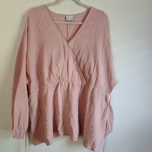 Beautiful Peach Plus Size Shirt